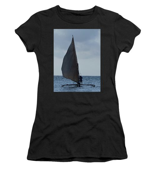Dhow Wooden Boats In Sail Women's T-Shirt