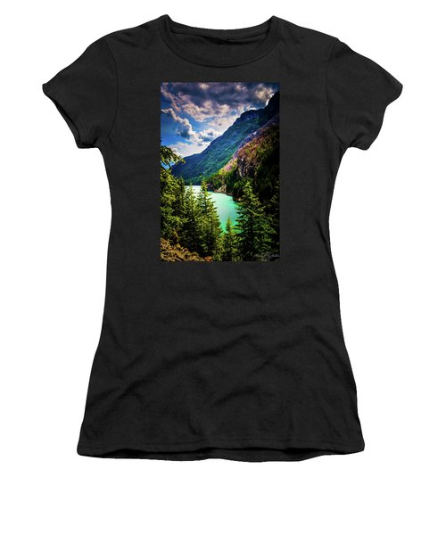 Diablo Lake Women's T-Shirt (Athletic Fit)