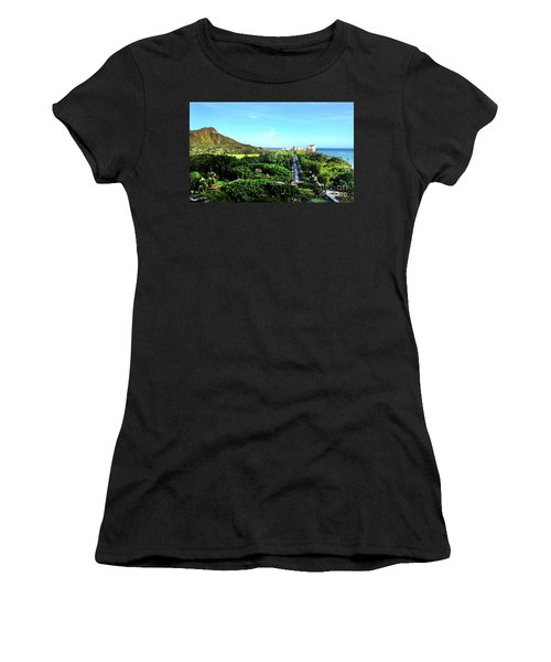 Diamond Head Women's T-Shirt (Junior Cut) by Kristine Merc