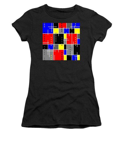 Diamonds And De Stijl Women's T-Shirt (Junior Cut) by Tara Hutton