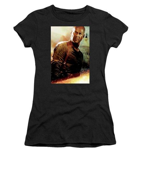 Die Hard 4.0 2007 Women's T-Shirt