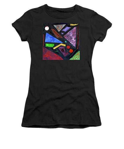 Women's T-Shirt featuring the painting Differences by Michael Lucarelli