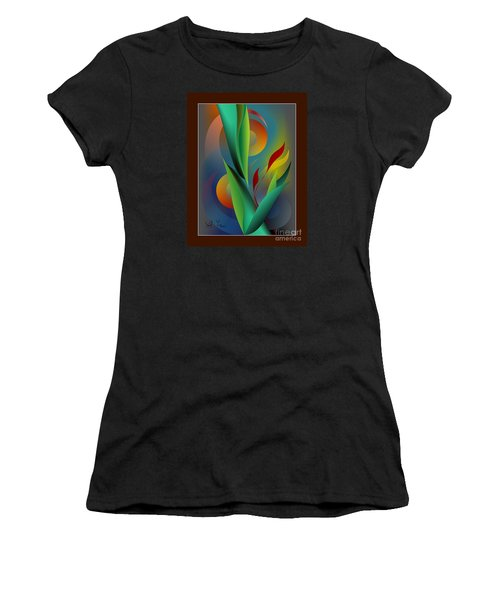 Digital Garden Dreaming Women's T-Shirt (Athletic Fit)