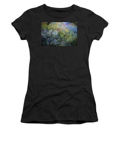 Digital Watercolor Field Of Wildflowers 4064 W_2 Women's T-Shirt (Athletic Fit)