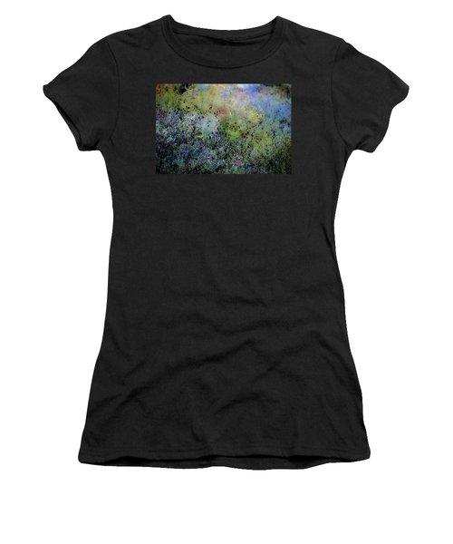 Digital Watercolor Field Of Wildflowers 4064 W_2 Women's T-Shirt