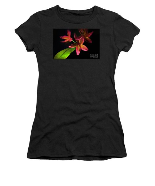 Digitized Sunset Plumerias #2 Women's T-Shirt