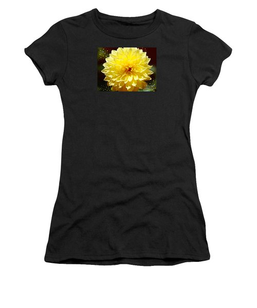 Dinner Plate Dahlia In Starry Sky Women's T-Shirt (Athletic Fit)