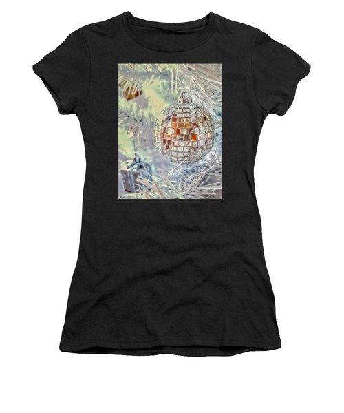Disco Ball Tree Ornament Women's T-Shirt