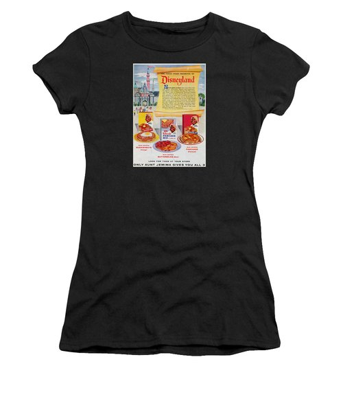 Women's T-Shirt featuring the digital art Disneyland And Aunt Jemima Pancakes  by ReInVintaged