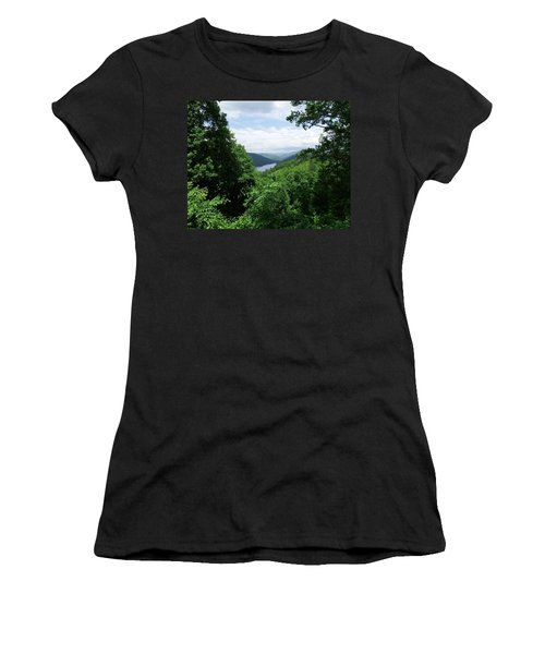 Distant Mountains Women's T-Shirt (Junior Cut) by Cathy Harper