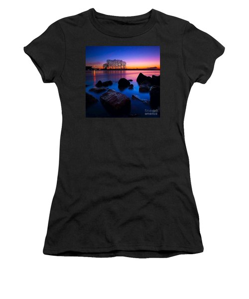 Distant Shores At Night Women's T-Shirt (Athletic Fit)