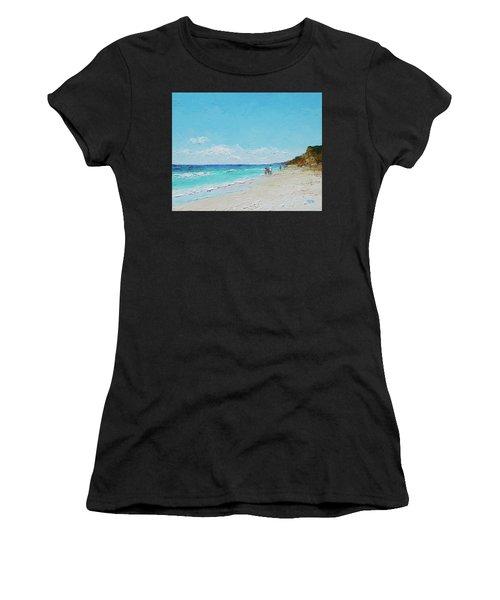 Ditch Plains Beach Montauk Hamptons Ny Women's T-Shirt