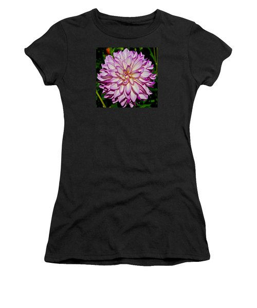 Divine Dahlia Blessings  Women's T-Shirt (Athletic Fit)