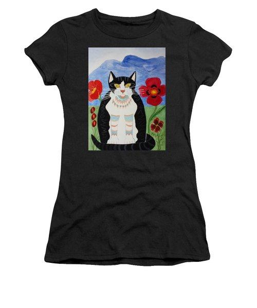 Diwali Tux Cat Women's T-Shirt (Athletic Fit)
