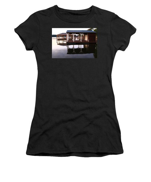 Dock Reflections Women's T-Shirt (Athletic Fit)