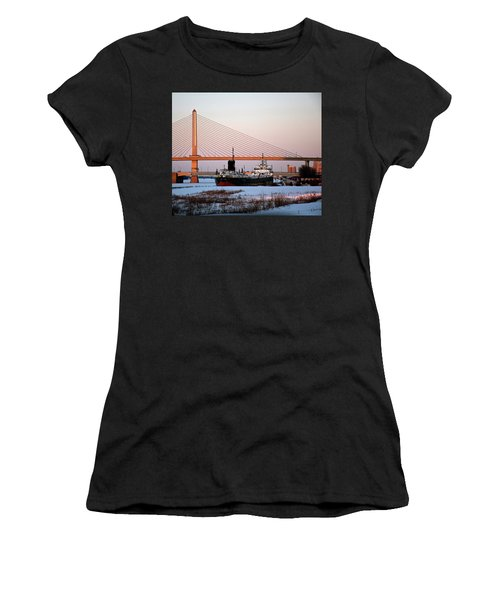 Docked Under The Glass City Skyway  Women's T-Shirt (Athletic Fit)