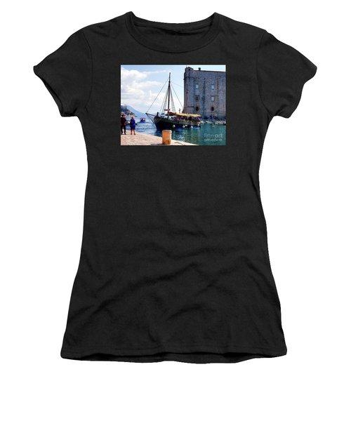 Docking In Dubrovnik Harbour Women's T-Shirt