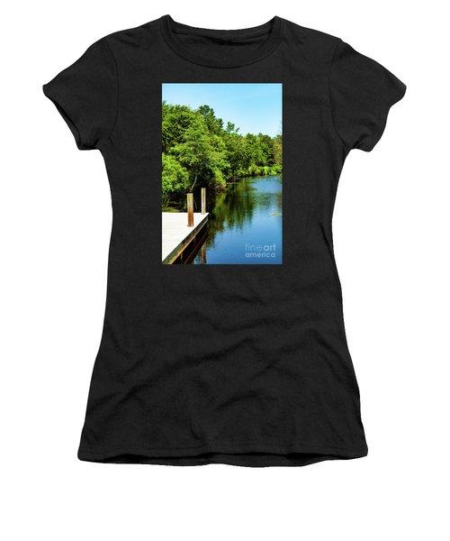 Dockside In Delaware Women's T-Shirt