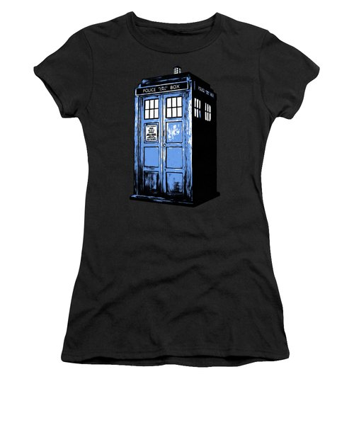 Women's T-Shirt featuring the digital art Doctor Who Tardis by Edward Fielding