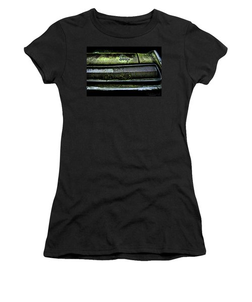 Women's T-Shirt featuring the photograph Dodge Green Grin by Glenda Wright