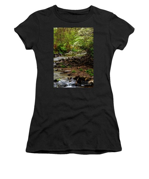 Dogwood At The Bend Women's T-Shirt (Junior Cut) by Thomas R Fletcher