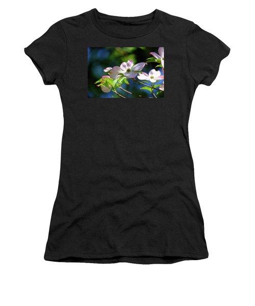 Dogwood Flowers Women's T-Shirt (Athletic Fit)