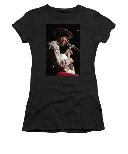 Women's T-Shirt featuring the photograph Dom Flemons by Jim Mathis