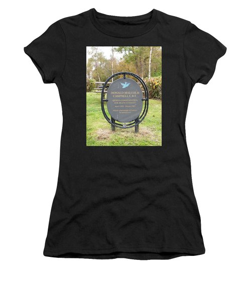 Women's T-Shirt featuring the photograph Donald Campbell Memorial by JLowPhotos