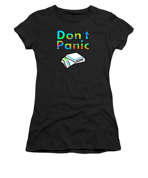 Don't Panic Women's T-Shirt (Athletic Fit)