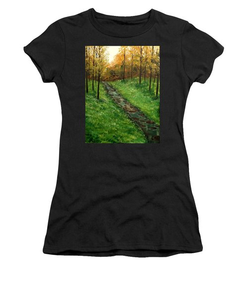 Don't Worry Anymore Women's T-Shirt (Junior Cut) by Lisa Aerts