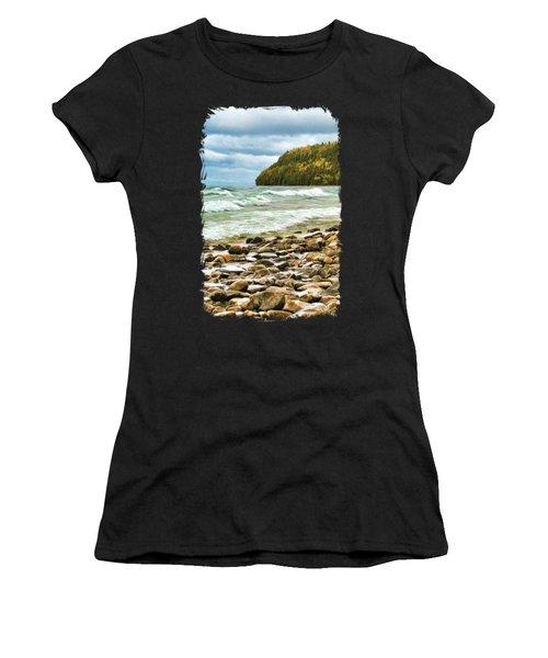 Door County Porcupine Bay Waves Women's T-Shirt
