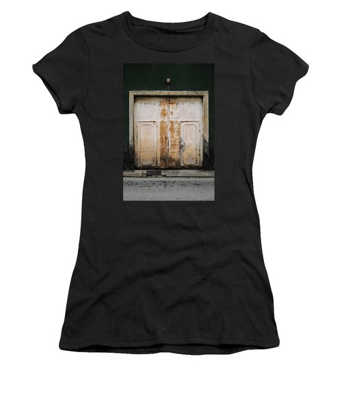 Women's T-Shirt (Junior Cut) featuring the photograph Door No 163 by Marco Oliveira