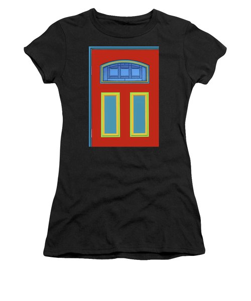 Door - Primary Colors Women's T-Shirt (Athletic Fit)