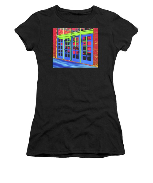 Women's T-Shirt (Athletic Fit) featuring the digital art Doorplay by Wendy J St Christopher