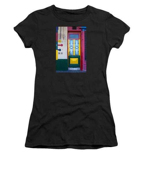 Doors Of San Telmo, Argentina Women's T-Shirt (Athletic Fit)