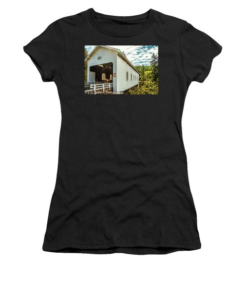 Dorena Covered Bridge Women's T-Shirt (Athletic Fit)