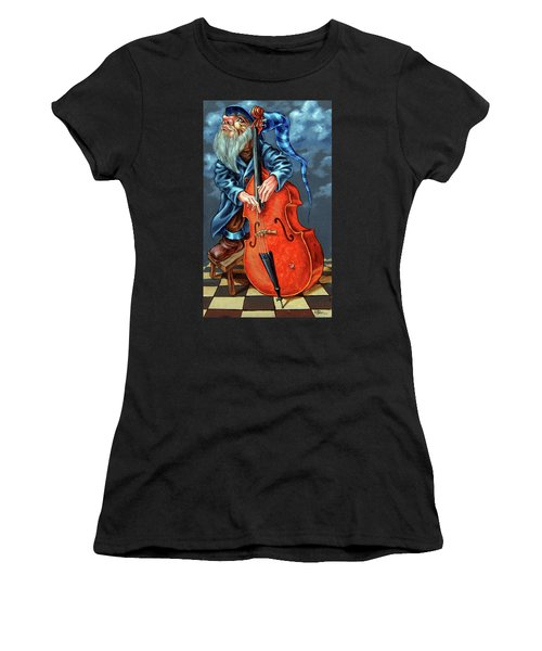 Double Bass And Bench Women's T-Shirt (Athletic Fit)