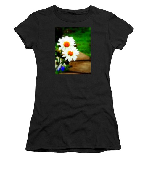 Double Daisy Women's T-Shirt (Athletic Fit)