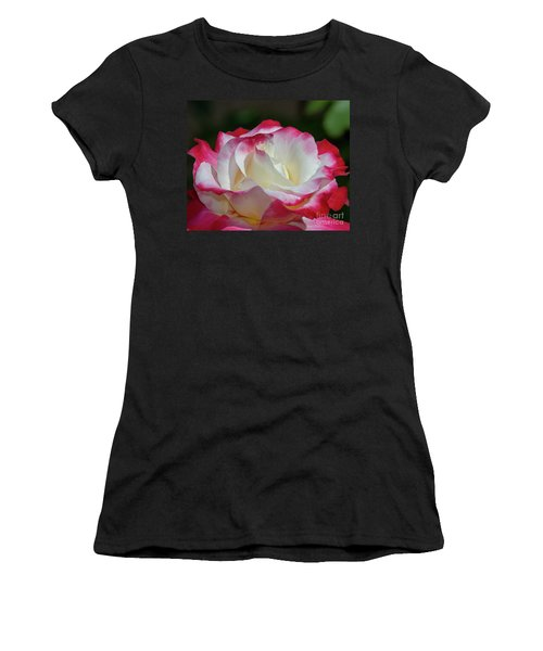 Double Delight Rose 1 Women's T-Shirt (Athletic Fit)