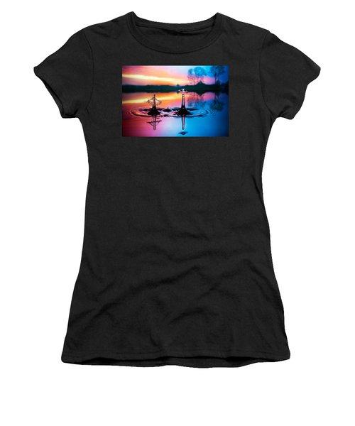 Double Liquid Art Women's T-Shirt (Athletic Fit)