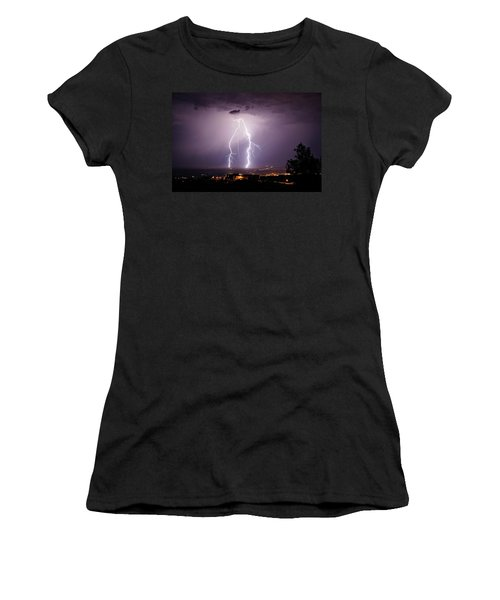Double Trouble Women's T-Shirt (Junior Cut) by Ron Chilston