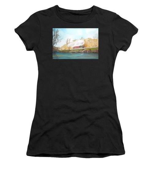 Down By The River Side Women's T-Shirt (Athletic Fit)