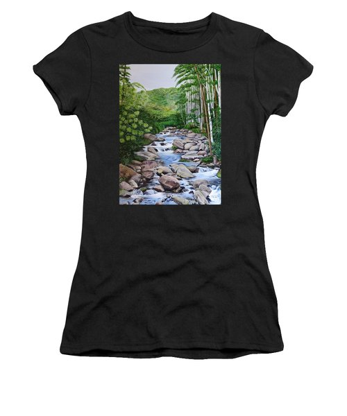 Down Stream  Women's T-Shirt (Athletic Fit)