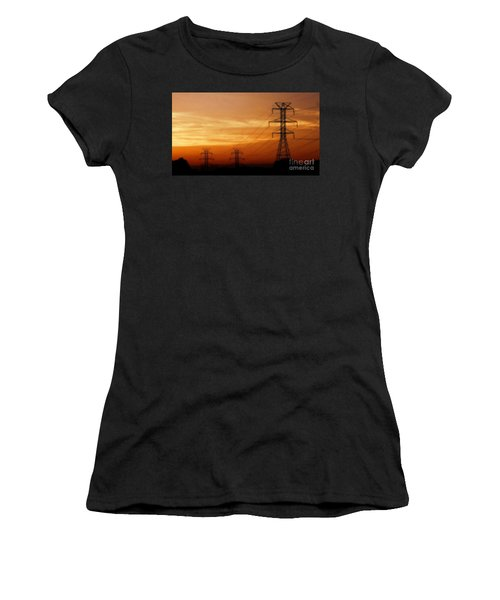 Down The Line Women's T-Shirt (Junior Cut) by Christy Ricafrente
