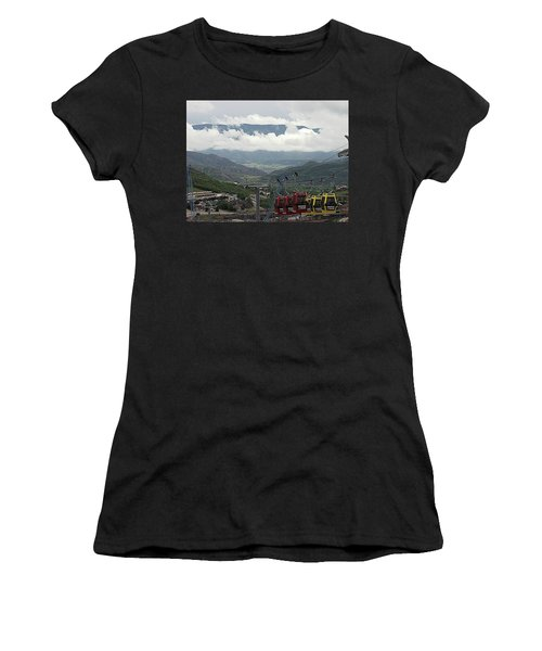 Down The Valley At Snowmass Women's T-Shirt (Athletic Fit)