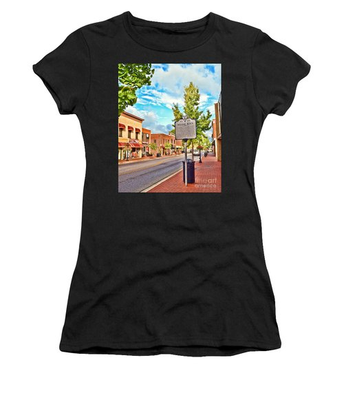 Downtown Blacksburg With Historical Marker Women's T-Shirt