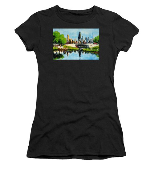 Downtown Chicago From Lincoln Park Women's T-Shirt