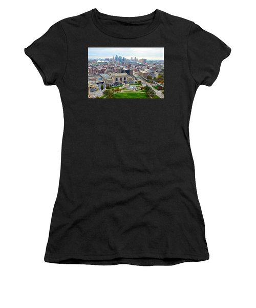 Downtown Kansas City From Liberty Memorial Tower Women's T-Shirt (Athletic Fit)