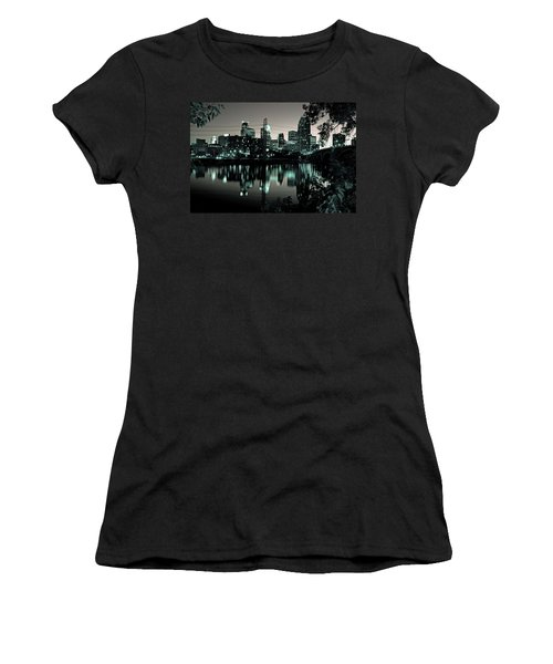Downtown Minneapolis At Night II Women's T-Shirt (Athletic Fit)