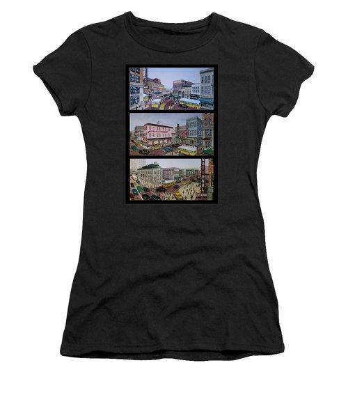 Downtown Portsmouth 1948 Women's T-Shirt (Junior Cut) by Frank Hunter